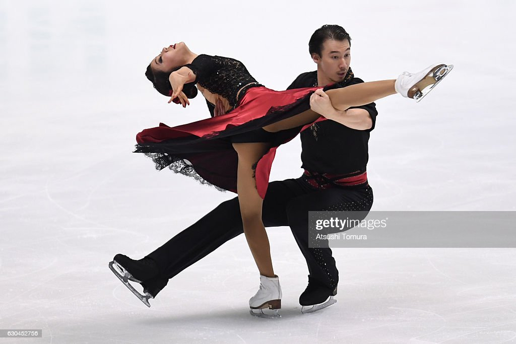 Kana Muraoto and Chris Reed of Japan compete in the Ice dance free dance during the Japan Figure Skating Championships 2016 on December 23, 2016 in Kadoma, Japan.