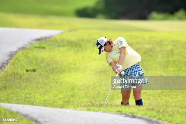 Kana Nagai of Japan hits her second shot on the 13th hole during the second round of the Resorttrust Ladies at the Oakmont Golf Club on May 27 2017...