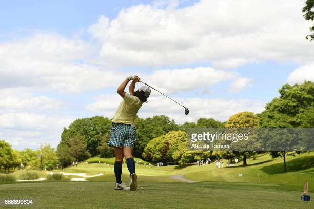 Kana Nagai of Japan hits her tee shot on the 12th hole during the second round of the Resorttrust Ladies at the Oakmont Golf Club on May 27 2017 in...