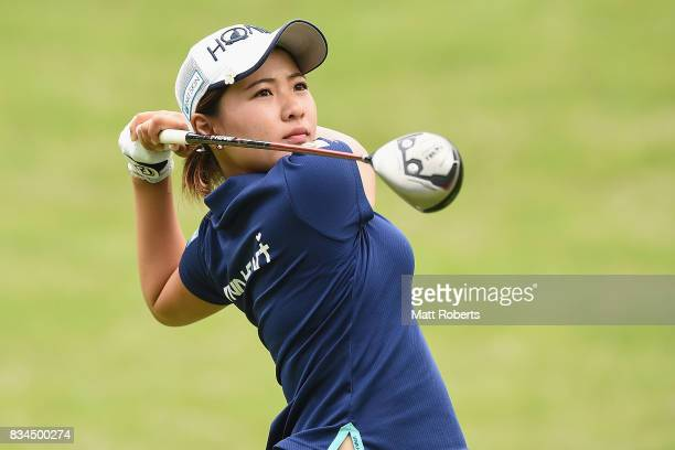 Kana Nagai of Japan hits her tee shot on the 2nd hole during the first round of the CAT Ladies Golf Tournament HAKONE JAPAN 2017 at the Daihakone...