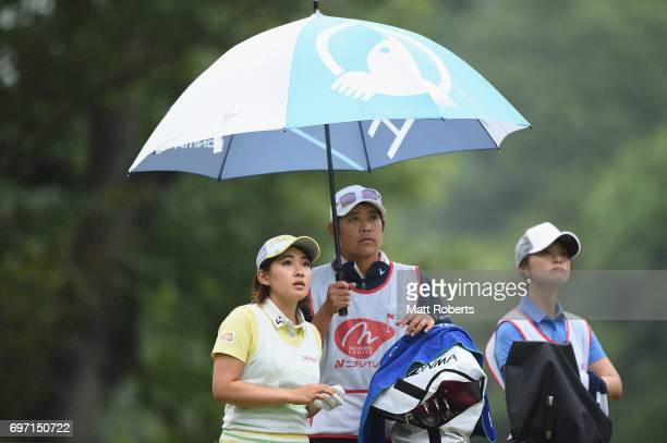 Kana Nagai of Japan looks on during the final round of the Nichirei Ladies at the on June 18 2017 in Chiba Japan