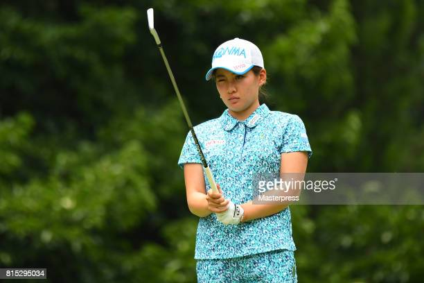 Kana Nagai of Japan looks on during the final round of the Samantha Thavasa Girls Collection Ladies Tournament at the Eagle Point Golf Club on July...