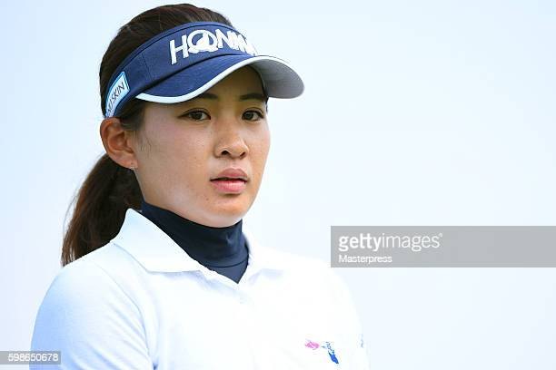 Kana Nagai of Japan looks on during the first round of the Golf 5 Ladies Tournament 2016 at the Golf 5 Country Bibai Course on September 2 2016 in...