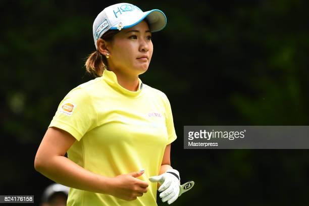 Kana Nagai of Japan looks on during the third round of the Daito Kentaku Eheyanet Ladies 2017 at the Narusawa Golf Club on July 29 2017 in Narusawa...