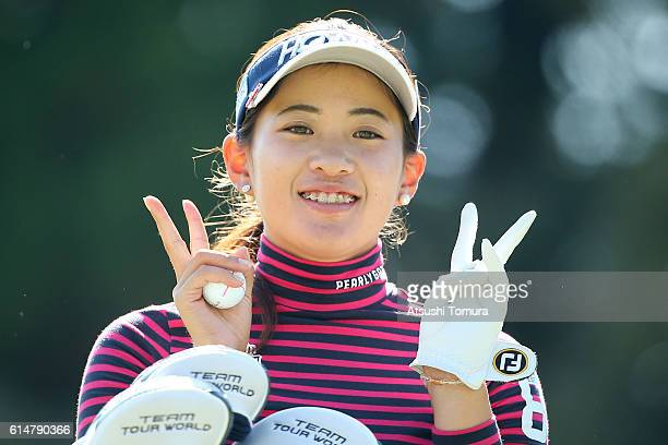 Kana Nagai of Japan poses during the second round of the Fujitsu Ladies 2016 at the Tokyu Seven Hundred Club on October 15 2016 in Chiba Japan