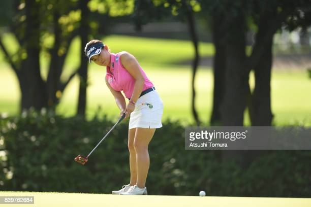 Kana Nagai of Japan putts on the 2nd hole during the final round of the Nitori Ladies 2017 at the Otaru Country Club on August 27 2017 in Otaru...