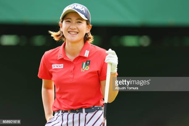 Kana Nagai of Japan smiles during the final round of Stanley Ladies Golf Tournament at the Tomei Country Club on October 8 2017 in Susono Shizuoka...