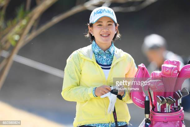 Kana Nagai of Japan smiles during the final round of the Yokohama Tire PRGR Ladies Cup at the Tosa Country Club on March 12 Konan Japan