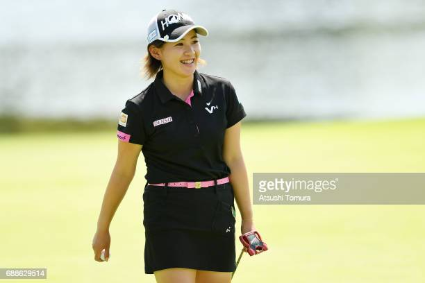 Kana Nagai of Japan smiles during the first round of the Resorttrust Ladies at the Oakmont Golf Club on May 26 2017 in Yamazoe Japan