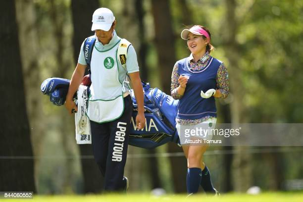 Kana Nagai of Japan smiles during the second round of the 50th LPGA Championship Konica Minolta Cup 2017 at the Appi Kogen Golf Club on September 8...