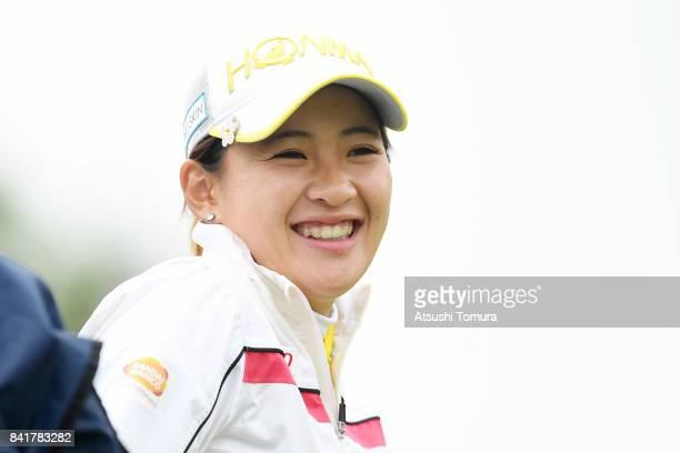 Kana Nagai of Japan smiles during the second round of the Golf 5 Ladies Tournament 2017 at the Golf 5 Country Oak Village on September 2 2017 in...