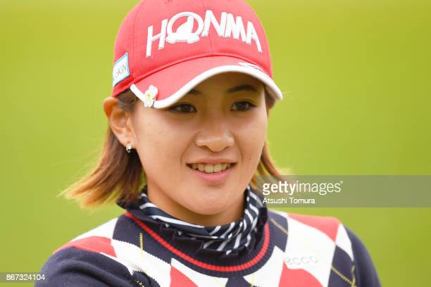 Kana Nagai of Japan smiles during the second round of the Higuchi Hisako Ponta Ladies at the Musashigaoka Golf Course on October 28 2017 in Hanno...