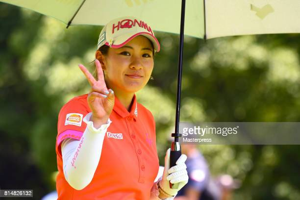 Kana Nagai of Japan smiles during the second round of the Samantha Thavasa Girls Collection Ladies Tournament at the Eagle Point Golf Club on July 15...
