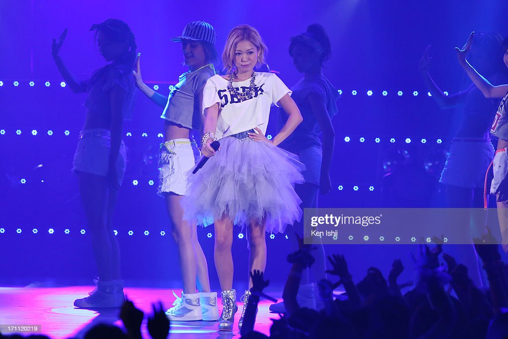 Kana Nishino perfoms onstage during the MTV VMAJ 2013 at Makuhari Messe on June 22, 2013 in Chiba, Japan.