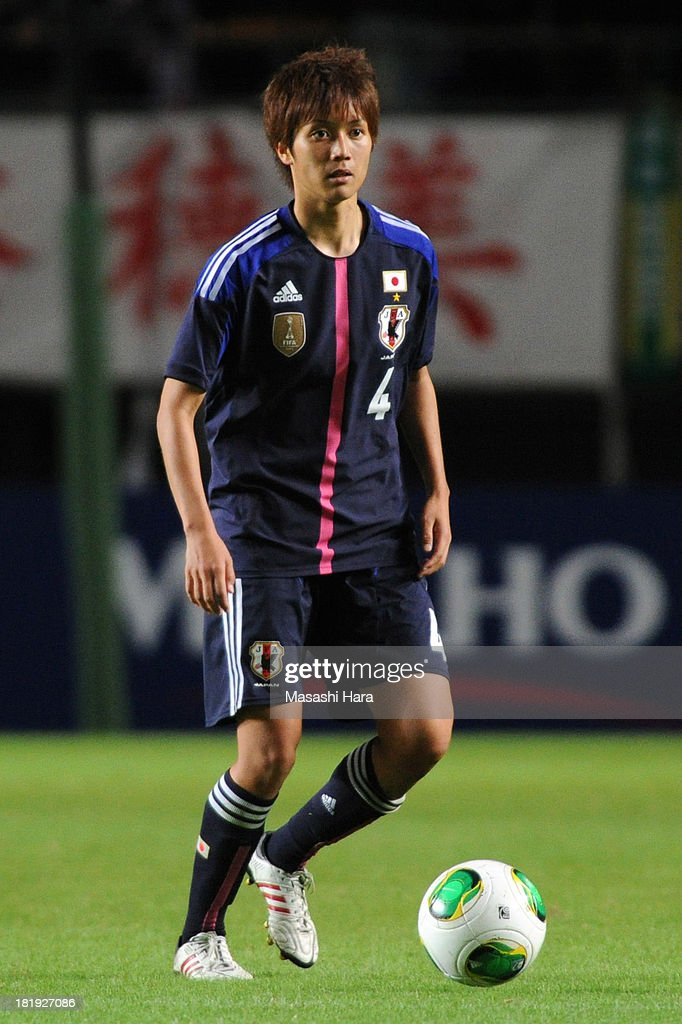 Kana Osafune #4 of Japan in action during the Women's international friendly match between Japan and Nigeria at Fukuda Denshi Arena on September 26, 2013 in Chiba, Japan.