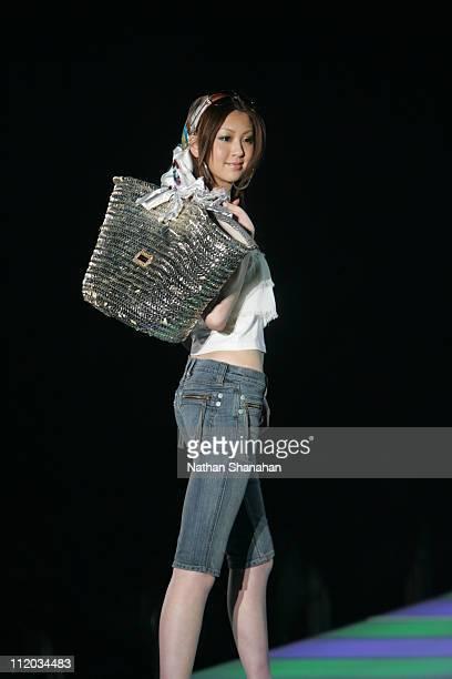 Kana Watari wearing SWORD FISH during the Tokyo Girls Collection by girlswalkercom 2006 Spring/Summer