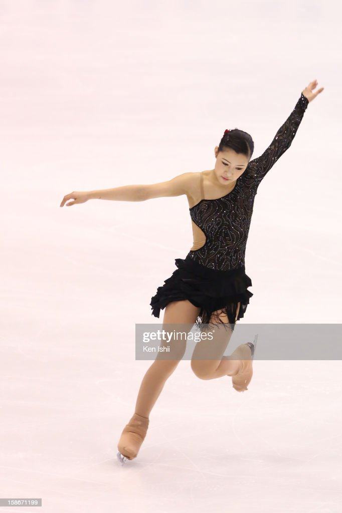 <a gi-track='captionPersonalityLinkClicked' href=/galleries/search?phrase=Kanako+Murakami&family=editorial&specificpeople=6665999 ng-click='$event.stopPropagation()'>Kanako Murakami</a> competes in the Women's Free Program during day three of the 81st Japan Figure Skating Championships at Makomanai Sekisui Heim Ice Arena on December 23, 2012 in Sapporo, Japan.