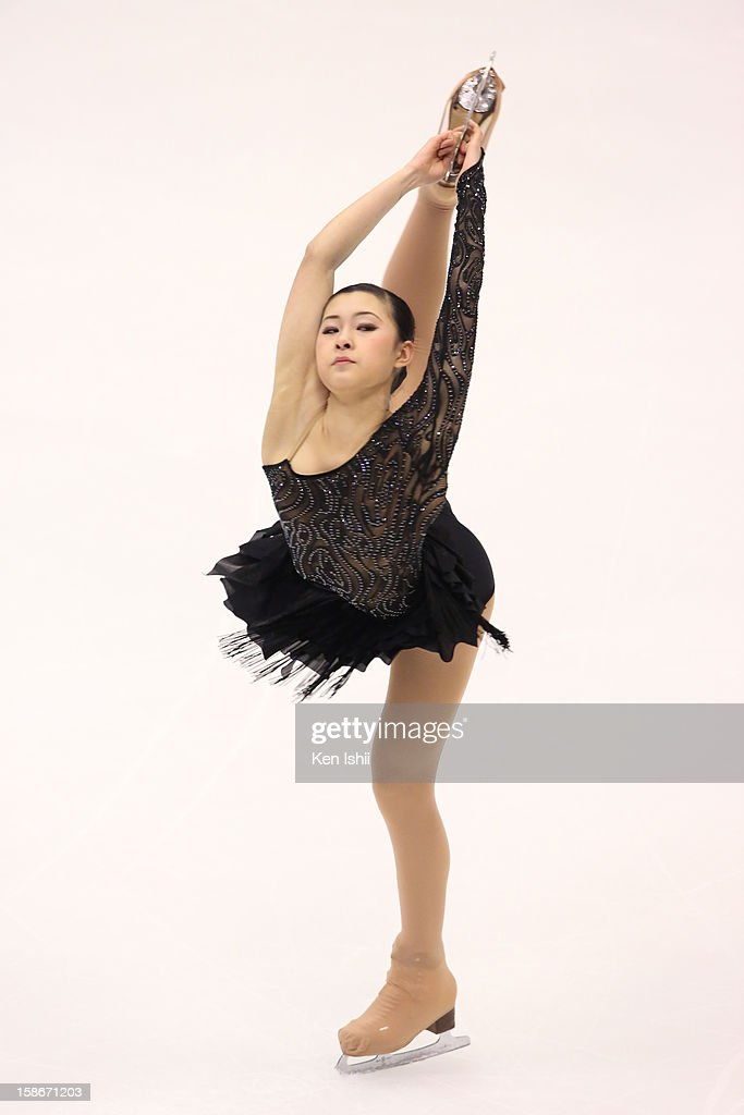 Kanako Murakami competes in the Women's Free Program during day three of the 81st Japan Figure Skating Championships at Makomanai Sekisui Heim Ice Arena on December 23, 2012 in Sapporo, Japan.