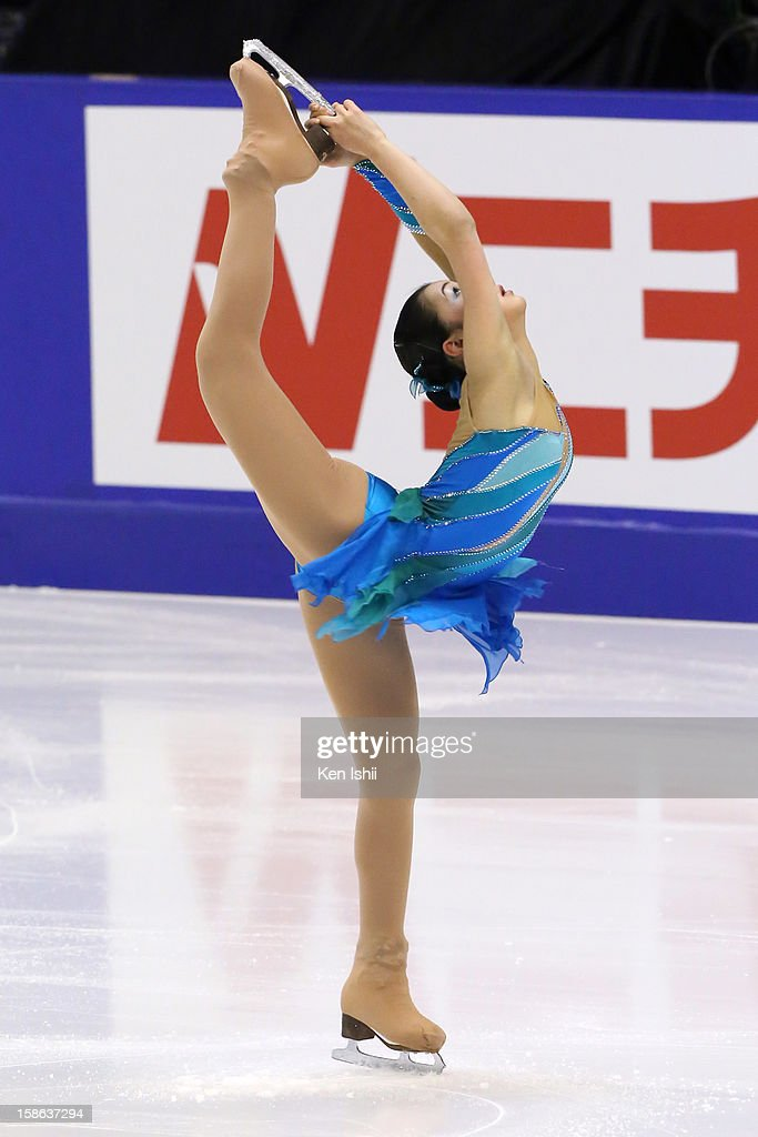 <a gi-track='captionPersonalityLinkClicked' href=/galleries/search?phrase=Kanako+Murakami&family=editorial&specificpeople=6665999 ng-click='$event.stopPropagation()'>Kanako Murakami</a> competes in the Women's Short Program during day two of the 81st Japan Figure Skating Championships at Makomanai Sekisui Heim Ice Arena on December 22, 2012 in Sapporo, Japan.