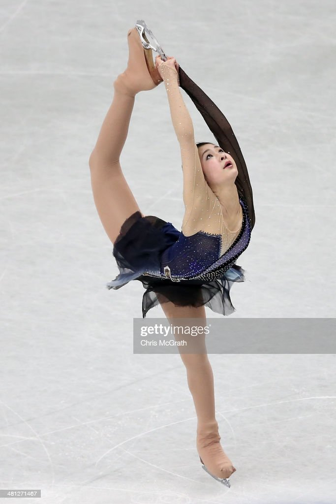 <a gi-track='captionPersonalityLinkClicked' href=/galleries/search?phrase=Kanako+Murakami&family=editorial&specificpeople=6665999 ng-click='$event.stopPropagation()'>Kanako Murakami</a> of Japan competes in the Ladies Free Skating during ISU World Figure Skating Championships at Saitama Super Arena on March 29, 2014 in Saitama, Japan.