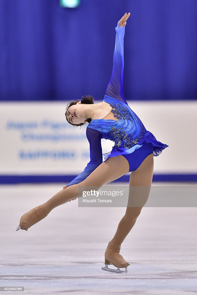 <a gi-track='captionPersonalityLinkClicked' href=/galleries/search?phrase=Kanako+Murakami&family=editorial&specificpeople=6665999 ng-click='$event.stopPropagation()'>Kanako Murakami</a> of Japan competes in the Ladies free skating during the day three of the 2015 Japan Figure Skating Championships at the Makomanai Ice Arena on December 27, 2015 in Sapporo, Japan.