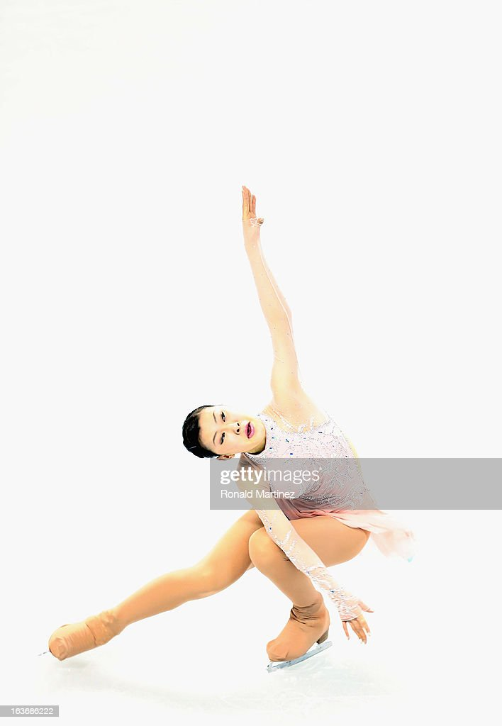 <a gi-track='captionPersonalityLinkClicked' href=/galleries/search?phrase=Kanako+Murakami&family=editorial&specificpeople=6665999 ng-click='$event.stopPropagation()'>Kanako Murakami</a> of Japan competes in the Ladies Short Program during the 2013 ISU World Figure Skating Championships at Budweiser Gardens on March 14, 2013 in London, Canada.