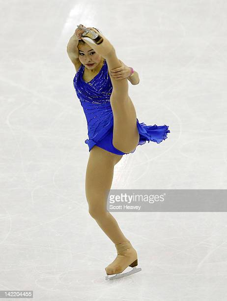 Kanako Murakami of Japan performs during day six of the ISU World Figure Skating Championships on March 31 2012 in Nice France