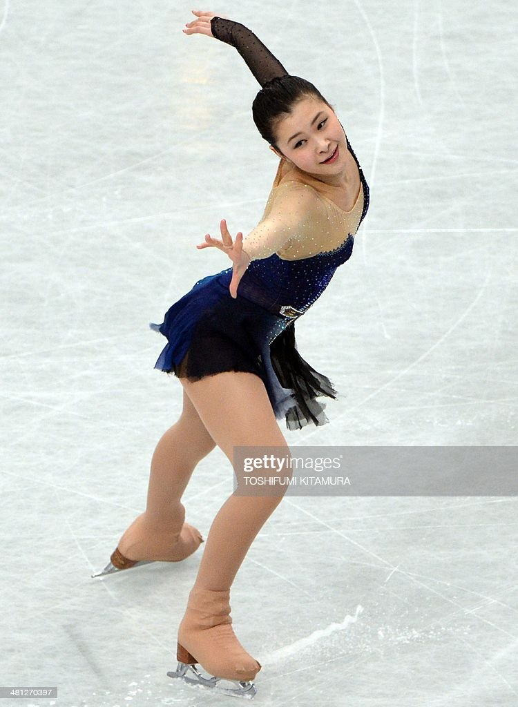 Kanako Murakami of Japan performs during her free skating in the women's singles at the world figure skating championships in Saitama on March 29, 2014.