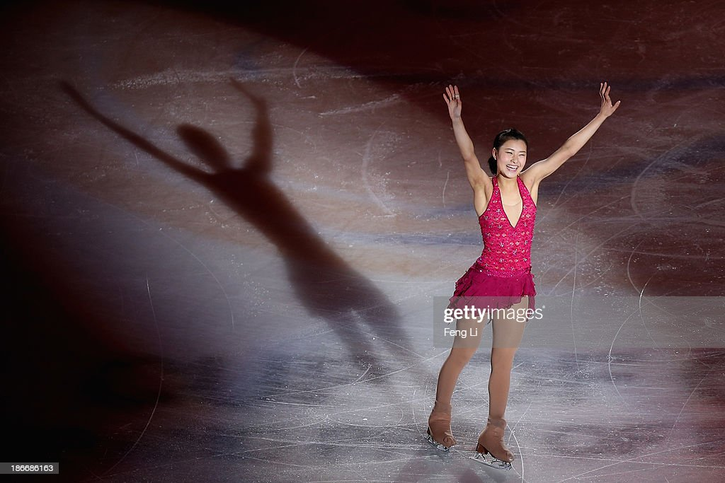 Kanako Murakami of Japan performs during Lexus Cup of China ISU Grand Prix of Figure Skating 2013 at Beijing Capital Gymnasium on November 3, 2013 in Beijing, China.