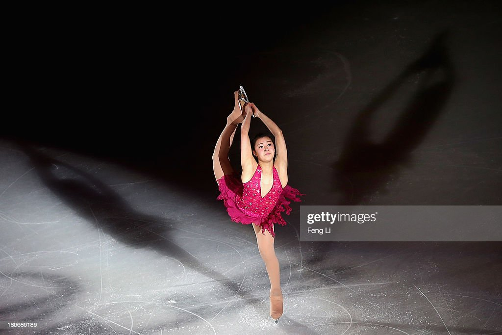 <a gi-track='captionPersonalityLinkClicked' href=/galleries/search?phrase=Kanako+Murakami&family=editorial&specificpeople=6665999 ng-click='$event.stopPropagation()'>Kanako Murakami</a> of Japan performs during Lexus Cup of China ISU Grand Prix of Figure Skating 2013 at Beijing Capital Gymnasium on November 3, 2013 in Beijing, China.