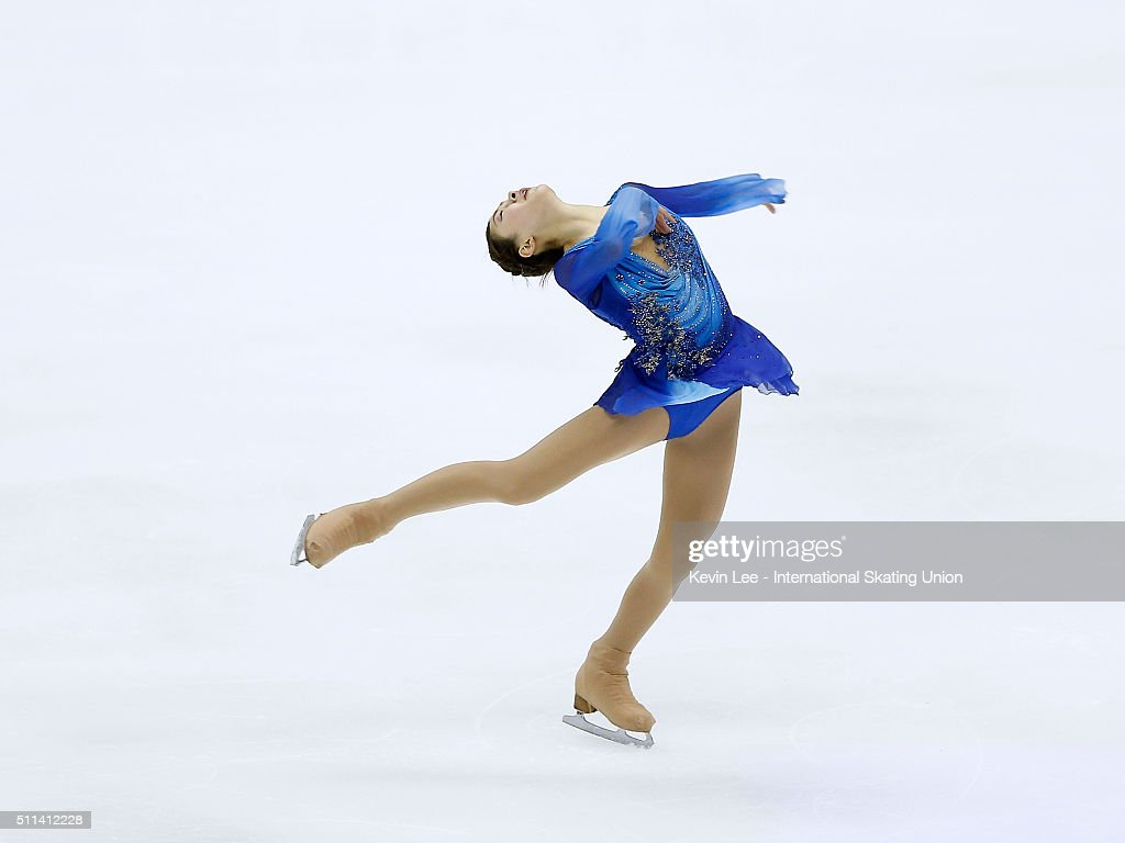 <a gi-track='captionPersonalityLinkClicked' href=/galleries/search?phrase=Kanako+Murakami&family=editorial&specificpeople=6665999 ng-click='$event.stopPropagation()'>Kanako Murakami</a> of Japan performs during the Ladies Free Skating on day three of the ISU Four Continents Figure Skating Championships 2016 at Taipei Arena on February 20, 2016 in Taipei City, Taiwan.