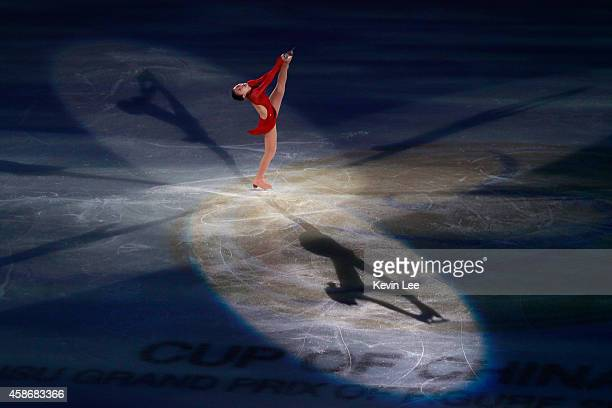 Kanako Murakami of Japan performs her routine in the ISU Gala during day three of the Lexus Cup of China 2014 at Oriental Sport Center on December 8...
