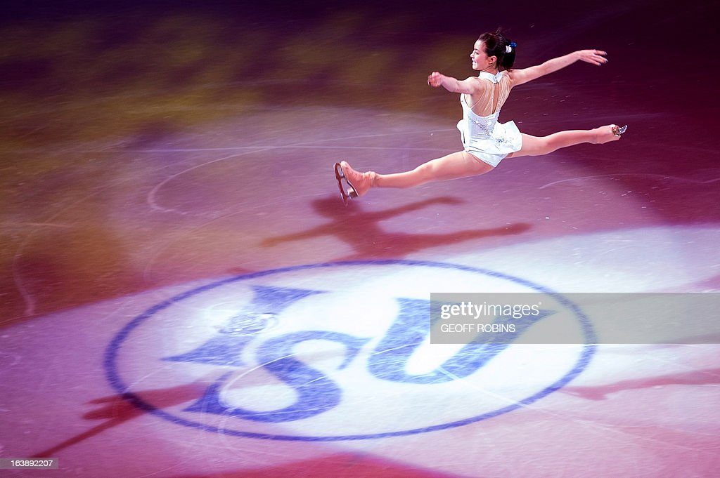 Kanako Murakami of Japan skates in the 2013 World Figure Skating Championships Gala in London, Ontario, on March 17, 2013. AFP PHOTO/Geoff ROBINS