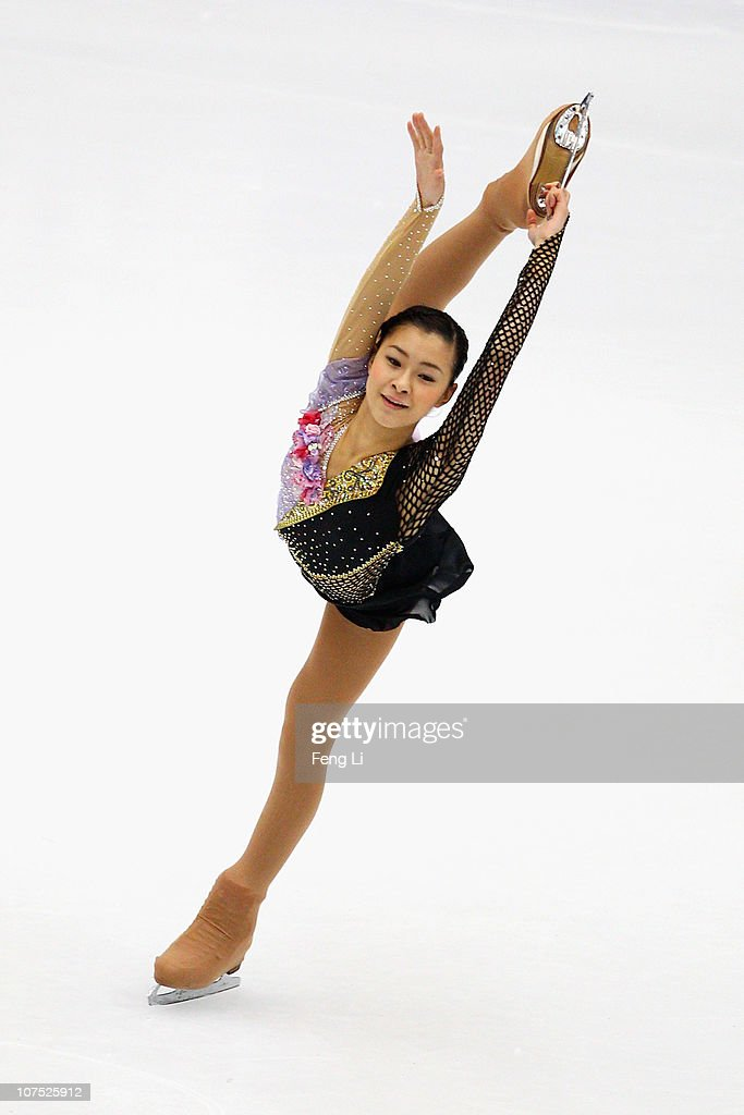 <a gi-track='captionPersonalityLinkClicked' href=/galleries/search?phrase=Kanako+Murakami&family=editorial&specificpeople=6665999 ng-click='$event.stopPropagation()'>Kanako Murakami</a> of Japan skates in the Ladies Free Skating during ISU Grand Prix and Junior Grand Prix Final at Beijing Capital Gymnasium on December 11, 2010 in Beijing, China.