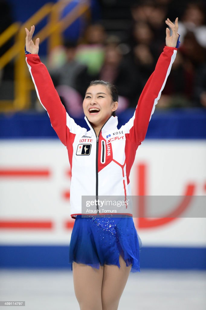 <a gi-track='captionPersonalityLinkClicked' href=/galleries/search?phrase=Kanako+Murakami&family=editorial&specificpeople=6665999 ng-click='$event.stopPropagation()'>Kanako Murakami</a> of Japan waves for fans during the All Japan Figure Skating Championships at Saitama Super Arena on December 23, 2013 in Saitama, Japan.