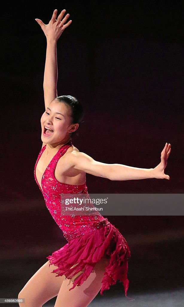 Kanako Murakami performs in the gala exhibition during day four of the 82nd All Japan Figure Skating Championships at Saitama Super Arena on December 24, 2013 in Saitama, Japan.