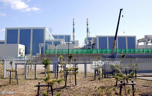 This picture taken 15 March 2006 shows Japan's Hokuriku Electric Power's nuclear power plant at Shiga town in Fukui prefecture western Japan which...