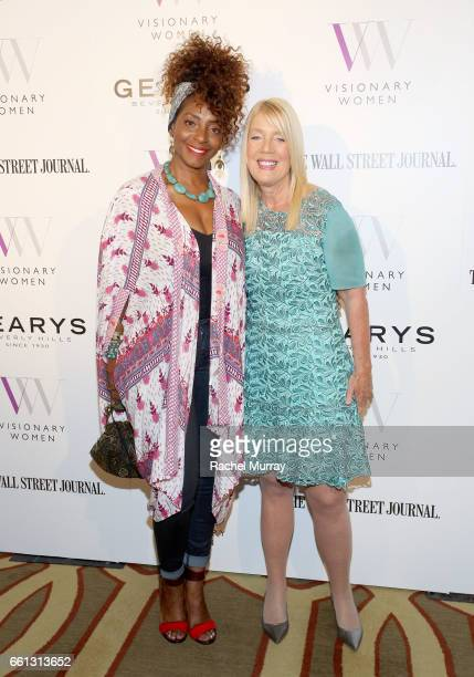 Kandace Lindsay and Visionary Women Executive Board Member and Mayor of Beverly Hills Lili Bosse attend the Visionary Women's Salon Mind Body and...