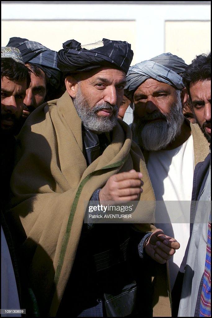 Kandahar Freed At Last After The Escape Of Mullah Omar On November 12Th 2001 In Kandahar Afghanistan Prime Minister Designate Hamid Karzai