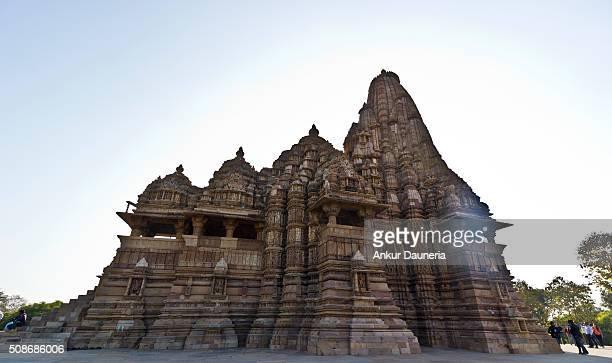 Kandariya Mahadeva Temple against the sunlight