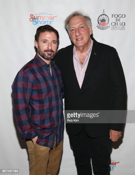 J Kandel and Alan Zweibel attend the OffBroadway opening night party for 'SUMMER SHORTS 2017' at Fogo de Chao Churrascaria on August 7 2017 in New...