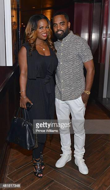 Kandi Burruss and Todd Tucker attend 'Tiny' Tameka Harris Celebrity Birthday Affair at Scales 925 Restaurant on July 14 2015 in Atlanta Georgia