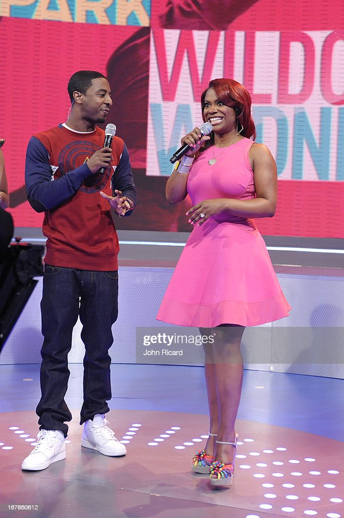 Kandi Burruss visits BET's '106 & Park' at BET Studios on May 1, 2013 in New York City.