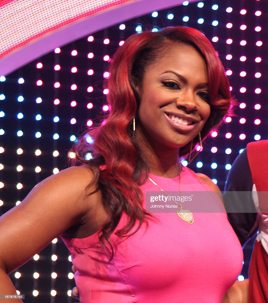 <a gi-track='captionPersonalityLinkClicked' href=/galleries/search?phrase=Kandi+Burruss&family=editorial&specificpeople=4401257 ng-click='$event.stopPropagation()'>Kandi Burruss</a> visits BET's '106 & Park' at BET Studios on May 1, 2013 in New York City.