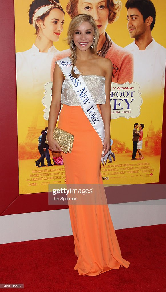 Kandice Pelletier attends the 'The Hundred-Foot Journey' New York Premiere at Ziegfeld Theater on August 4, 2014 in New York City.