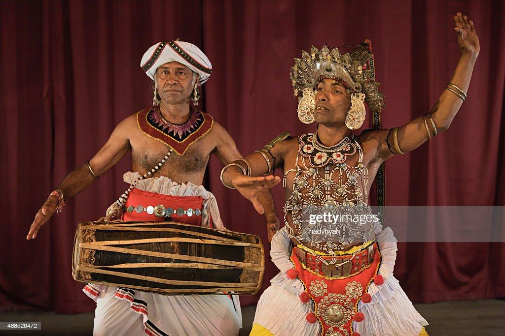 Kandyan dancer during the show, Kandy, Sri Lanka
