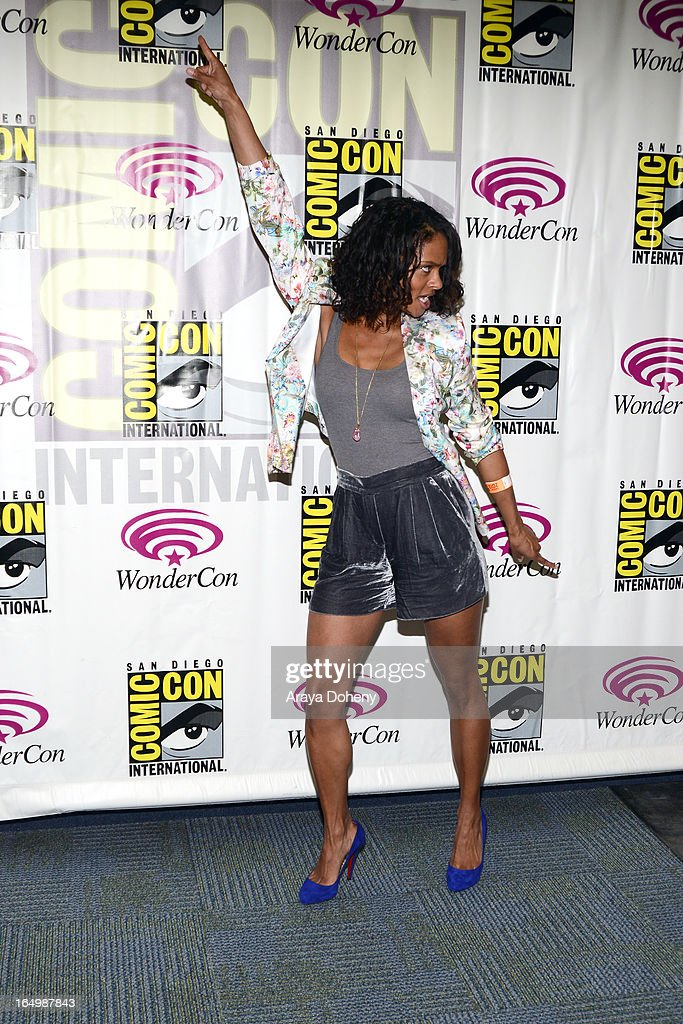 Kandyse McClure attends WonderCon Anaheim 2013 Day 1 at Anaheim Convention Center on March 29 2013 in Anaheim California