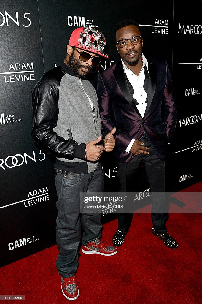 E.D. Kane and Singer Anthony Hamilton arrive at the Maroon 5 Grammy After Party & Adam Levine Fragrance Launch Event on February 10, 2013 in West Hollywood, California.