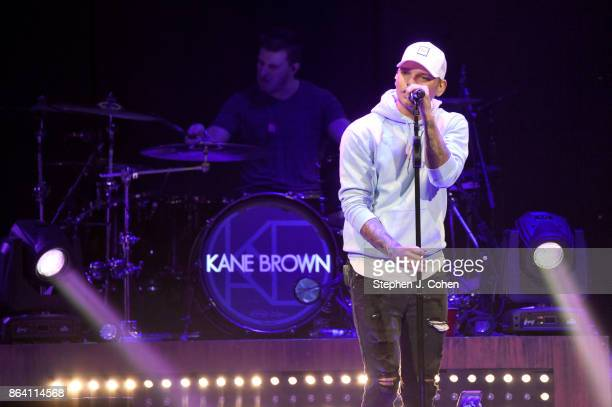 Kane Brown performs during the 12th Annual Concert For The Cure at KFC YUM Center on October 20 2017 in Louisville Kentucky