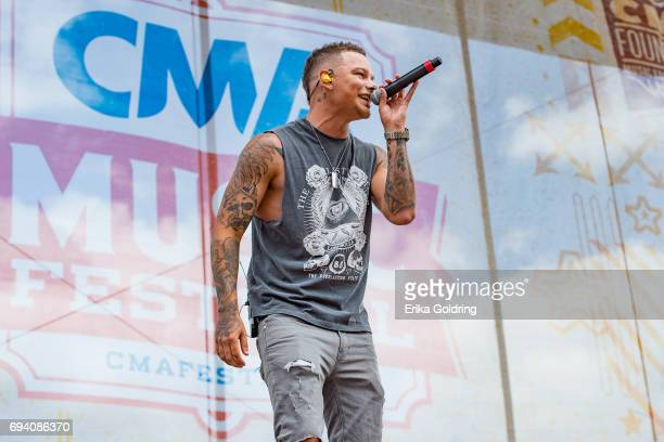 Kane Brown performs during the 2017 CMA Music Festival on June 8 2017 in Nashville Tennessee